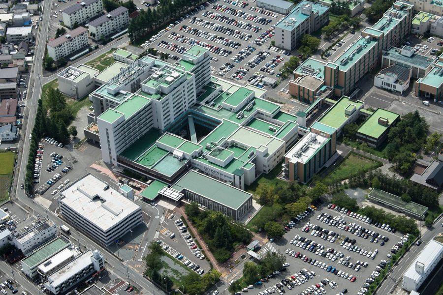 山形大学医学部附属病院 病棟 外来棟 中央診療棟